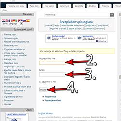 Aktivacija uporabniškega računa in Profil, prijava